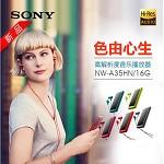 索尼(SONY)NW-A35HN 音频视频播放器 含入耳式耳机 触屏插卡 波尔多红