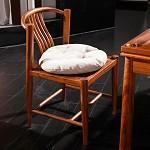 摩纳小镇(Muonaxiaozhen) 8818新中式红木餐椅 刺猬紫檀书椅餐椅 全实木休闲椅富贵祥云椅 餐椅
