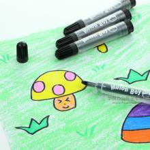 西瓜太郎(Melon boy) 黑色勾线笔 儿童画画绘图涂鸦笔 幼儿园美术绘画勾边描边笔 24支装