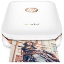 惠普(HP)小印Sprocket 100 口袋照片打印机蓝牙连接 移动便携随身打印
