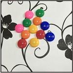 伟意 彩色ABS新材质磁石 强力吸铁石磁扣直径3cm 12粒/板