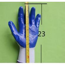 旺胜 防滑耐磨浸胶手套 蓝色 12双/打