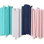 索瓦顿(SÖTVATTEN)吸管 蓝色白色粉色青色 颜色随机 20cm 100根/包