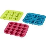 普拉斯蒂(PLQD)冰格冰块模具 绿色粉色蓝色 颜色随机 18*18*2.5cm