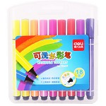 得力(deli)70657 18色无毒画笔幼儿园彩色笔套装 可水洗