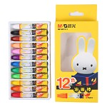 晨光(M&G)MF9011-1 米菲卡通3D六角油画棒蜡笔绘画笔 12色/盒