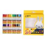 晨光(M&G)MF9013-1 米菲卡通3D六角油画棒蜡笔绘画笔 24支/盒
