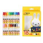 晨光(M&G)MF9012-1 米菲卡通3D六角油画棒蜡笔绘画笔 18色/盒