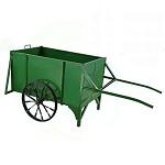 欣越 手推环卫垃圾车 不带盖 绿色