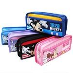 迪士尼(DISNEY)DM5617-2 大容量简约卡通笔袋 颜色随机 22*10*4cm