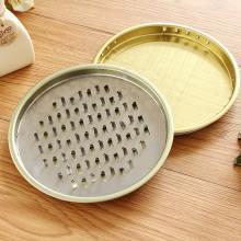 千奇 家用便携式不锈钢蚊香盘 直径15.5cm 高1.3cm 10个装 钉盘/铁丝盘请备注