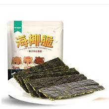 三只松鼠 夾心海苔椰子紫菜餅 海椰脆 36g/袋