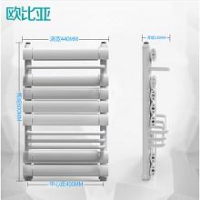 欧比亚 升级款 水暖铜铝复合卫生间散热器 600x宽400中心距 亮白色