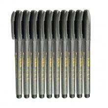 斑马(ZEBRA)WF-1 秀丽笔 毛笔 书法 美工笔 小楷 10支装 黑色 书法绘画用具