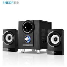恩科(ENKOR)E700 木质2.1音响低音炮 个性大眼低音喇叭