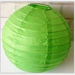 乐享 小号 纸质灯笼 30cm 绿色黄色 庆典物品
