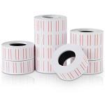 得力(deli)3210 通用单排标价纸 白色 21.5×12mm 10卷/筒