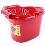 美丽雅 (MARYYA) HC051324 高效拖把拧干桶 10L 红色 43*29*30CM