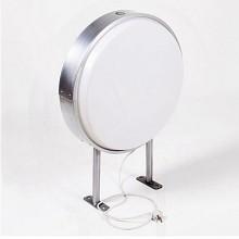 欧斯若(OUSSIRRO)圆形LED单双面灯管悬挂户外室内吸塑广告牌亚克力防水灯箱 黑色+LED+UV喷绘 11.5cm厚平面圆60cm吊环