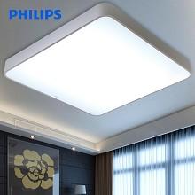 飞利浦(PHILIPS)LED吸顶灯 客厅书房卧室现代简约灯具 22W 冷白光 品轩 方形 白色