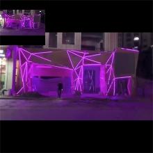 佳事发 LED户外广告亮化工程炫彩点阵屏背景幕墙灯光节楼体亮化方案效果