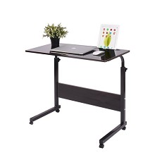 臣度(CHENDU)男生床边书桌椅子家具  60*40cm 亚光黑胡桃