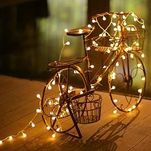 乾越(qianyue)拍照led小彩灯闪灯串灯房间卧室装饰灯串宿舍结婚装饰圆球灯婚庆 2.5米20灯 暖白电池灯