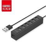 优越者(UNITEK)Y-2160BK USB分线器80CM 2.0高速扩展7口HUB集线器