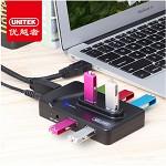优越者(UNITEK)Y-3177bk USB3.0分线器80CM 高速扩展7口HUB集线器