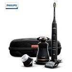 飞利浦(PHILIPS)S8880/68 男士护理套装 (三刀头刮胡刀+电动牙刷 )
