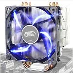 九州风神(DEEPCOOL)玄冰400 CPU散热器(多平台/支持AM4/4热管/智能温控/发蓝光/12CM风扇/附带硅脂)