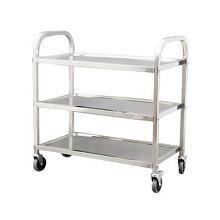 煜亭(YU TING yt)不锈钢加厚二三层多功能收碗送餐服务车 三层中号