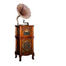 梵尼诗(Fennessy)复古留声机欧式大喇叭仿古唱片机 意大利色PLUS双模版+木喇叭+涡轮唱臂+金属唱盘