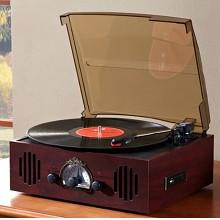 鼎绅(DINGSHEN) 黑胶唱片机 红木色