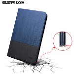 亿色(ESR)苹果iPad mini4保护套 迷你4平板电脑壳 超薄全包防摔支架皮套 至简原生系列 蓝灰笔记