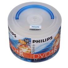 飞利浦(PHILIPS)DVD+R光盘/刻录盘 16速4.7G 桶装50片