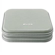 铭大金碟(MNDA)CD/DVD 40片 塑料外壳 光盘加固收纳包 银色 光盘盒/CD包