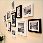 全悦(QUANYUE)实木照片墙 客厅画框组合