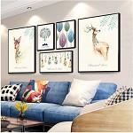 全悦(QUANYUE)实木照片墙 北欧客厅相框挂墙组合 A款 大号 占墙面积约145*53cm