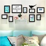 全悦(QUANYUE)全悦创意置物架照片墙 立体墙贴挂墙相框组合 全黑