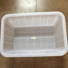 恒丰 方筛淋水筐 塑料加厚 385*265*135mm 白色