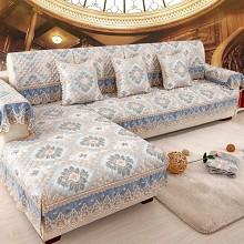 钟爱一生(CHERISHES LIFE)四季坐垫子欧式沙发套罩 西雅图 80+15cm花边*90cm