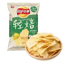 乐事(Lay's)柚香黑椒味薯片 70g 食品饮料