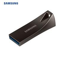 三星(SAMSUNG)BAR升级版+ 64GB USB3.1 U盘 读速200MB/s 金属坚固,高速便携(Gen 1) 深空灰