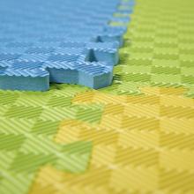 星期八 04100 回形纹泡沫地垫 PE卧室拼接铺地板防潮垫子 50*50*1.2 绿色 10片装