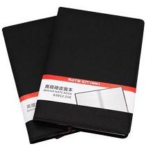 欧标 A0852 黑色 PU硬皮面本 25K 办公本册