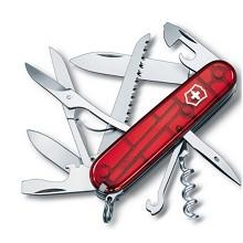 维氏(VICTORINOX)1.3713.T 都市猎人瑞士军刀 (15种功能)红色透明光面
