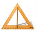 老木匠 教学专用 木制三角板量角器复合板三样 黄色
