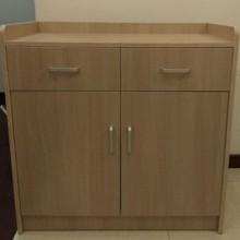 星漫 4155 简约现代实木茶水柜实厨房置物柜 黄色 80*40*9cm