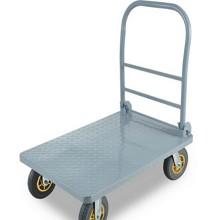 杜美特 fx-235 静音钢板小推车拉货车平板车推车折叠手推车 白色 90*60cm承重600斤